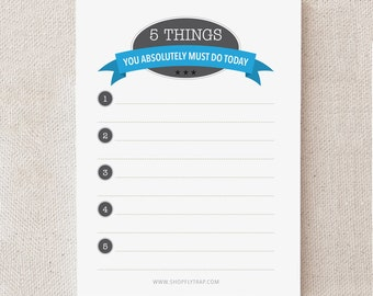 "Funny Birthday Gift for Him, Her, Man, Woman, Friend. Cheap. Under 10. Procrastination. Sticky Notepad. To Do. ""Must Do Today"" (NSN-T004)"