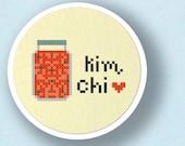 Kimchi. Korean Food Cross Stitch Pattern. PDF File