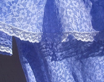 Vintage Party Dress Organdy 30s 40s Flowered  LOVELY LAVENDER Quinceañera