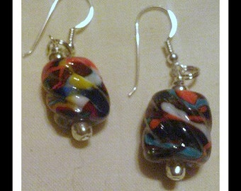 End of the Day Glass bead earrings