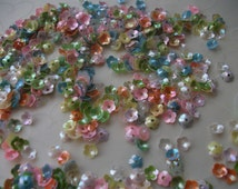 7g of 5 mm Cupped Flower Sequins in Opaque Mixed Iris Color
