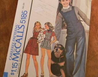 Vintage McCall's Pattern 5185 Girls Jumper and Jumpsuit Size 7 Uncut