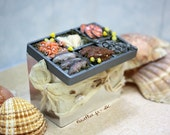 Miniature Fish Stall - Shell Fish, Salmon, Shrimps for your Shop - Dollhouse Miniature in One Inch Scale