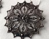 Ornate Metal Earrings