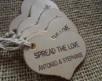 Spread the Love Personalized Heart Gift or Favor Tags - Set of 10 - Item 1573