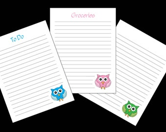 Adorable Owl Notes to Print at Home