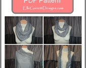 PDF Pattern - Nursing Scarf - Wear as a scarf and use for nursing when needed.