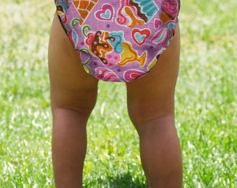 Sugar and Sweets Girls Diaper Cover from Miso Punk