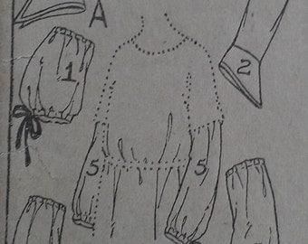 Antique Vintage 1900s Edwardian Ladies Sleeve Undersleeve Sewing Pattern 2744 Medium
