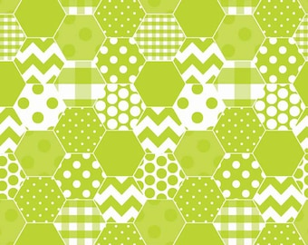 CLEARANCE!!  Riley Blake Designs, Hexi Color Lime (C770-32) - 1 yard