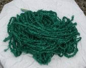 Lock  Spun Pure Wensleydale Yarn Emerald Wave  160 grams
