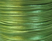 Apple Green Satin Rattail Cord 1mm 6 yards for Macrame Kumihimo Knotting