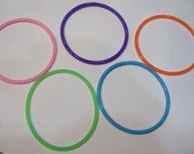 Silicone Bracelets 5 Colors You Pick Colors Mix and Match and Stack Them 20 Bracelets