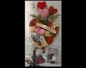 Sweet Heart Valentine Pattern PDF - primitive banner old photos quilt heart annie envelope