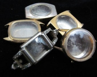 Vintage Antique Steampunk Watch Cases Altered Art Industrial  PS 30