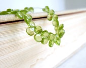 Peridot Briolette Gemstone Faceted Heart Bright Green 5 to 5.5mm 40 beads 1/2 strand Wholesale