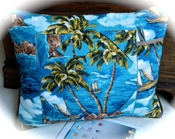 Hawaiian iPad Tablet Pillow Stand Tropical Paradise