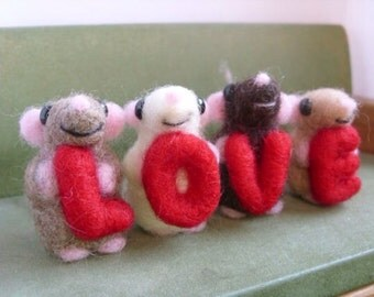 Choose your own baby mice set of four