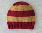 Harry Potter BABY HAT - newborn to 6 months size - burgundy red and gold baby yarn (inspired by Hogwarts School house colours)