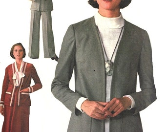 1970s Skirt Pattern Jiffy Jacket Pants Vintage Simplicity Sewing Women's Misses Size 18 - 20 Bust 40 - 42 Inches