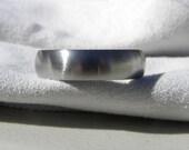 Titanium Ring or Simple Wedding Band, Satin Finish, Wedding Ring, Mens Ring, Ladies Ring
