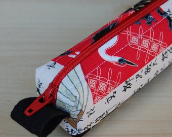 Going Japanese Bitty Bag (petite pencil or makeup case)