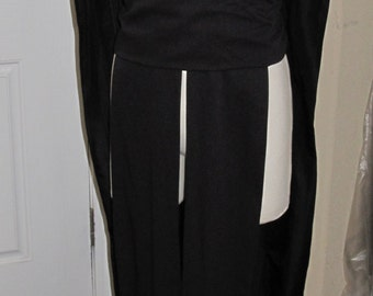 Sith Acolyte order sleeveless hooded tunic tabard vest with a sash.