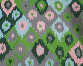 Awesome Ikat  - Hand printed cotton fabric - Half Yard