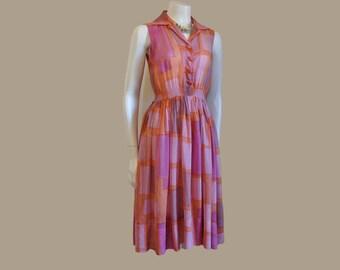 1940s dress / Sheer Delight Vintage 40's Bow Back Dress