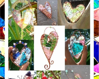 Second Chance Glass Suncatchers - Tutorial by Hippie Chickie - PDF  - How to make beautiful suncatchers and ornaments with recycled glass