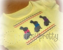 Chocolate Bunnies Easter Machine Smocked Embroidery Design
