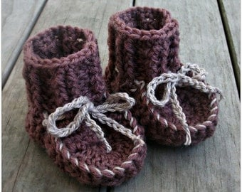 Download Now - CROCHET PATTERN Awesome Moccasin Booties - 0-12 mos - Pattern PDF