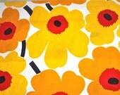 Marimekko Unikko cotton in yellow, orange, red - FAT QUARTER