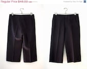 ON SALE Vintage 70s Pierre Cardin Boutique Black Culottes / Pilazzo Pants