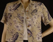 Vintage Tommy Bahama Silk Hawaiian Print Shirt Size S XS b39