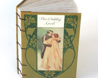 Wedding Guest Book Our Wedding Guests lovers embrace