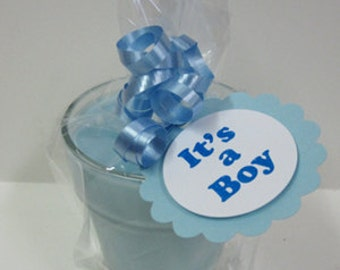 Baby Announcement - 5 - It's a Boy Announcement - Baby Shower Soy Candle Favors