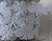 3yds WHITE Butterfly Flower Trim on a Vine Scrapbooking Card Making Baby Bridal