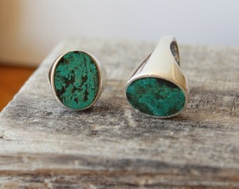 Vintage Turquoise & Sterling Silver Statement Ring