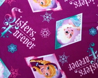 Frozen Sisters Forever Diamond Fabric By The Yard FBTY