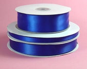 "3/8"" x 100 yards Double Face Satin - ROYAL BLUE"
