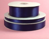 "7/8"" x 100 yards Single Face Satin - NAVY"