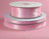 1/4 inch x 100 yds Single Face Satin Ribbon -- PINK