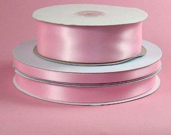 1/4 inch x 100 yds Single Face Satin Ribbon -- PINK
