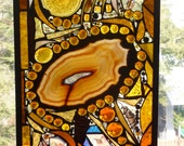 Midas Dreams Stained Glass Abstract Art Panel