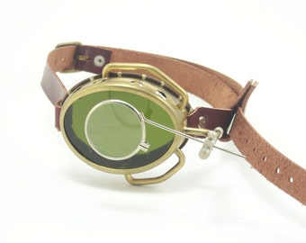 Real Brass Steampunk Monocle Goggles Steam Punk Victorian Cosplay LARP