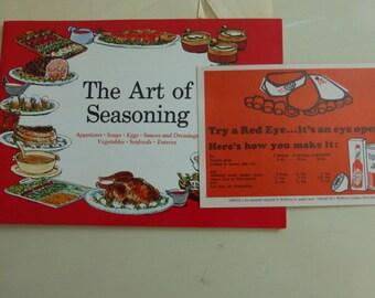 Vintage Cookbooklet The Art of Seasoning with McIlhenny Tabasco Sauce