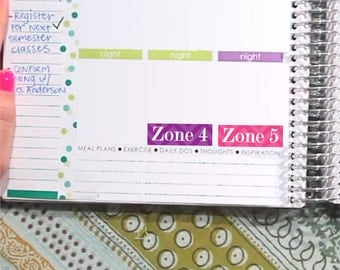 Cleaning Zone Stickers - Weekly Planner - Erin Condren - Printable