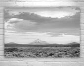 Mount Shasta, Black and White Photography, Mountain Art, California Art, Modoc, Sagebrush, Landscape Photography, Tulelake, Lava Beds