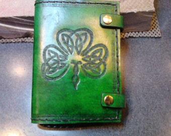 Leather Journal Celtic Shamrock St Patrick's Day